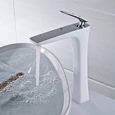 fapully wasserhahn mischbatterie für badzimmer bad armatur waschbecken elegantes design großhoch weiss chrom