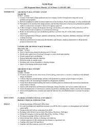 Download Architectural Intern Resume Sample As Image File
