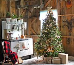 Welcome To This Little Rustic Christmas Cabin Wont You Stay For A Sip Of Hot Coco While Your Mittens Toast On The Wood Stove