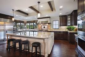 Kitchens With Dark Cabinets And Light Countertops by Dark Cabinets Light Island Houzz