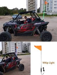 100 Flag Pole For Truck KEMiMOTO Whip Light 5ft LED Safety Antenna Whip Lights For
