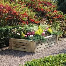 Beautiful Wooden Raised Flower Beds Wood Bed Flowers Ideas