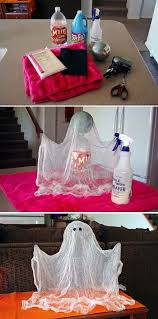 Halloween Door Decorations Pinterest by Best 25 Cheesecloth Ghost Ideas On Pinterest Simple Halloween