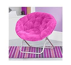 amazon com very comfortable mainstays faux fur saucer chair pink