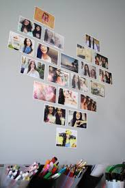 Decorate Your Room With Photos In A Heart Layout Diy Crafts Dorm