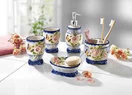 badezimmer accessoires aus keramik 5 teilig