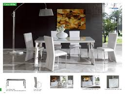 Dining Room White Leather Chairs With High Back Combined Rectangle Wooden Table