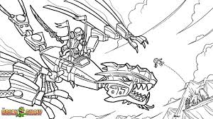 LEGO Ninjago Coloring Page Golden Dragon Under Attack Printable Color Sheet