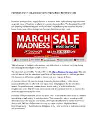 Furniture Direct Uk Announces March Madness Furniture Sale By ... Sofas Armchairs Corner Units Sofa Beds John Lewis Fniture Buy Wooden Online At Flipkart Best High Chairs For Your Baby And Older Kids Home Office Modern Affordable Amart Direct Uk Announces March Madness Fniture Sale By 17 Montessofriendly Objects You Can Buy Ikea Motherly Reclaimed Wood Tables More Barker Stonehouse Side Lamp Kids Desks Study Overstock Our Ultimate Guide The Wagon For 2019 Crayola Creativity Table And Chairs Listitdallas Mutable Toys Mulactivity Play Table Up To 8