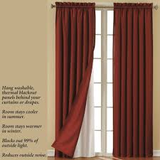 Light Blocking Curtain Liner by Curtains Smartblock Blackout Curtain Liner Insulated Curtain