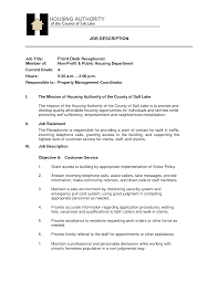 cover letter sle resume for front office receptionist sle