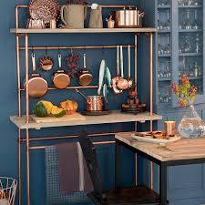 desserte de cuisine bois bricoler une desserte de cuisine en bois et en cuivre