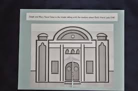 Fold The Doors Back And Glue Jesus Inside Temple Add Heading To Paper Color Wa La Children Can Actively Retell Story As They Open