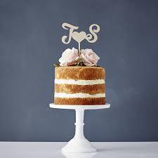Personalised Monogram Wooden Wedding Cake Topper