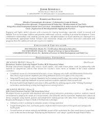 Special Education Resume Examples U2013 Wakeboarding Supplies