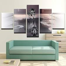 home décor items husky welpen wandbild a06212 canvas
