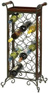 Howard Miller wrought iron standing wine rack cellar 21 bottles