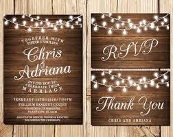 Wedding Invitation Rustic Printable Blank Templates Lake Side Corrals