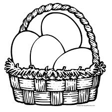 Easter Egg Basket Coloring Pages Baskets Printables
