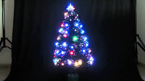 4ft Christmas Tree With Lights by 90cm Led Fibre Optic Christmas Tree Multi Youtube