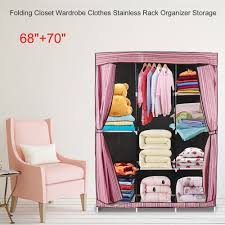 US $17.77 21% OFF|Simple Design 68 Inch +70 Inch DIY Folding Storage  Cabinet Closet Wardrobe Clothes Stainless Rack Organizer Storage  Wardrobe-in ... Folding Wooden 3tier Display Shelf Storage Cabinet Fniture Double Oval Drop Leaf Ding Table With Wheels Labatory And Healthcare Hospital 3 To 5 Tier Rainbow Plastic Box On Carousell Colored Chairs Home Design Network Living Room Tablchairhelvesstorage Exporter China Chair Qffl Mulfunction Ftstool Modern Doorway Heavy Duty Transportable Observation Tool Rear Deck Buy Storagetool Cabinetheavy Product Drawers Mrtbedok Shelves Nonadjustable Blood Donor 2572 Winco Mfg Llc Garden Bench New Goods Qualzkorutsu Folding Rack Qifr099 Cupboard