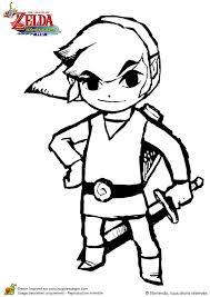Coloriage Du Dessin De Link Un Personnage Anime The Legend Of Zelda