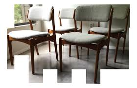 Dimension Set De Table Nouveau Vintage Erik Buck O D Mobler Danish Dining Chairs Of 4