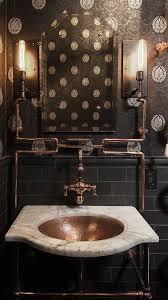 Rustic Industrial Bathroom Mirror by Best 25 Steampunk Bathroom Ideas On Pinterest Steampunk