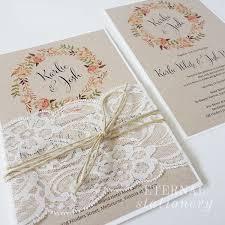 Rustic Lace Wedding Invitation Created By Eternal Stationery Eternalstationeryau