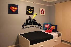 breathtaking kids bedroom with superhero wall decals combined