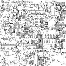 Coloring Book Adults Fantastic Cities Steve Mcdonald 24
