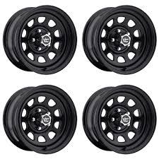 100 84 Chevy Truck Parts Set 4 16 Vision D Window Black Rims 16x8 6x55 12mm GMC