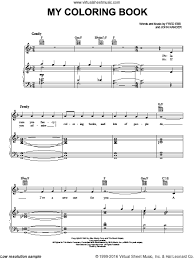 My Coloring Book Sheet Music For Voice Piano Or Guitar By Fred Ebb And John