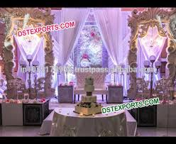 Latest Design Wedding Reception Stage Modern Style Flat Backdrop Panels Different