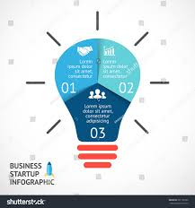 vector light bulb infographic template circle stock vector