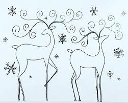 Free Printable Coloring Sheet Reindeer Traceable Angelafineart CHRISTMAS