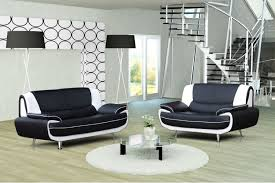 canap faux cuir canapé design 3 2 bregga noir blanc noir gris blanc chocolat