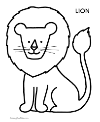 Little Lion Coloring For Kids