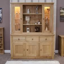 Ebay Uk China Cabinets by Kingston Solid Oak Furniture Large Dresser With Light