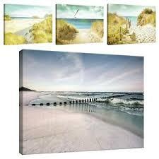 details zu leinwand bild wandbilder bilder strand meer ostsee natur wohnzimmer 541