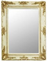 casa padrino barock spiegel creme gold 90 x 10 x h 120 cm handgefertigter wandspiegel im barockstil garderoben spiegel wohnzimmer spiegel