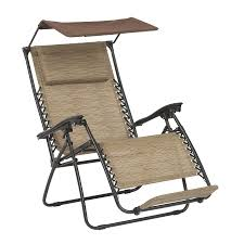 shop garden treasures brown steel folding patio zero gravity chair