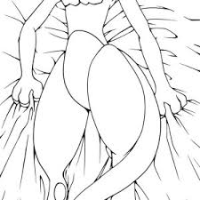 Mewtwo Lie Down On Bed Coloring Page