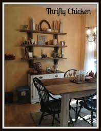 My New Diy Kitchen Table And Shelves Design Painted Furniture