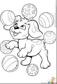 Printable Coloring Pages Christmas Puppies Free Pound Puppy Dog Print Full Size