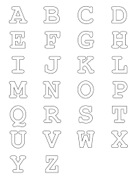 Free Alphabets To Print And Color