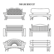 Royalty Free Drawing Sitting A Park Bench Clip Art Vector