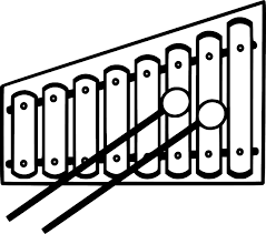 Xylophone Clipart Black And White