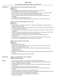 Download Supply Chain Project Manager Resume Sample As Image File
