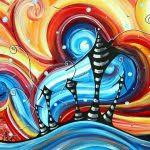 Abstract Art Design Ideas Original Colorful Funky House Painting Home On The